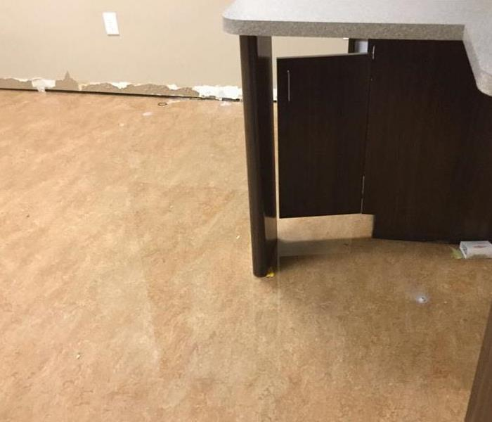 Water damage to office