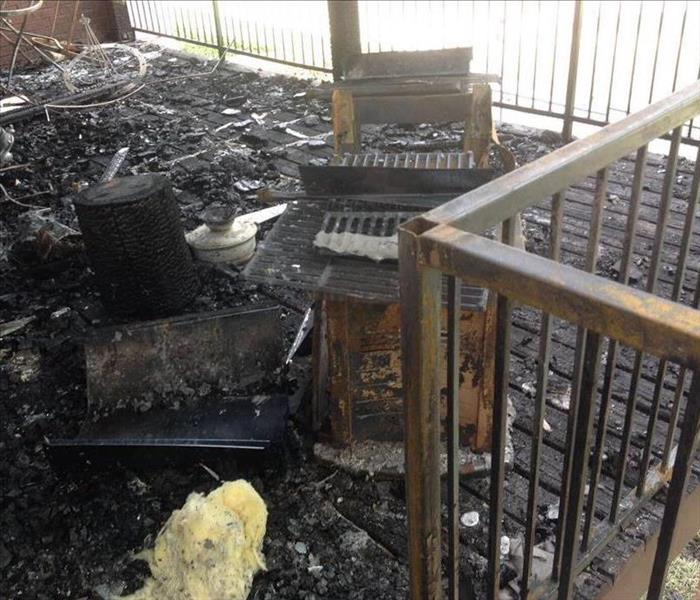 Fire Damage Due to Outside Grill