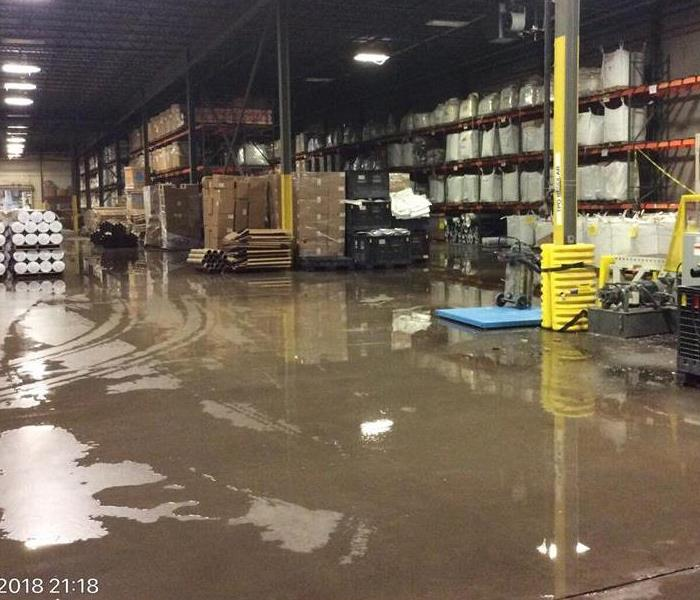 Water Damage at Commercial Building