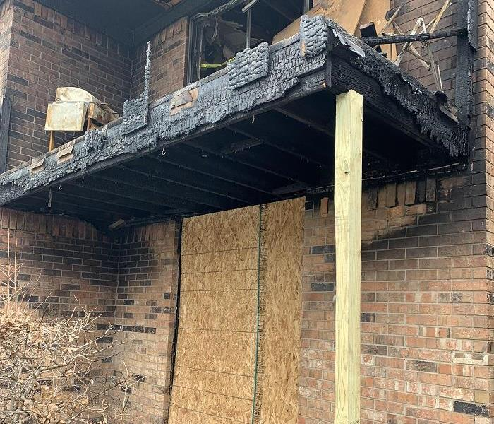 Fire damage to apartment homes